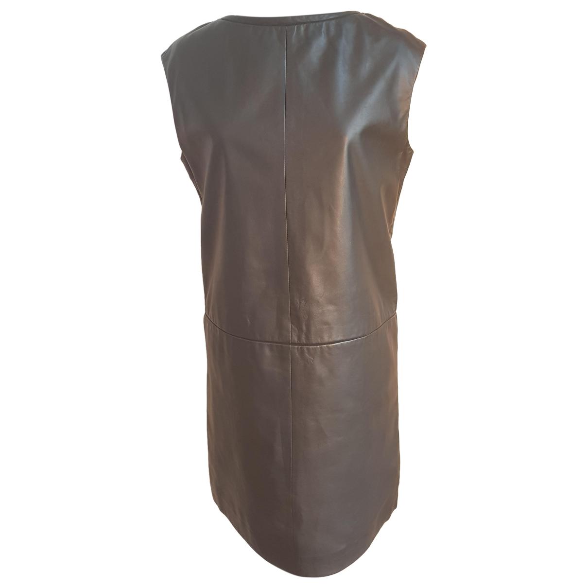 Cacharel - Robe   pour femme en cuir - noir