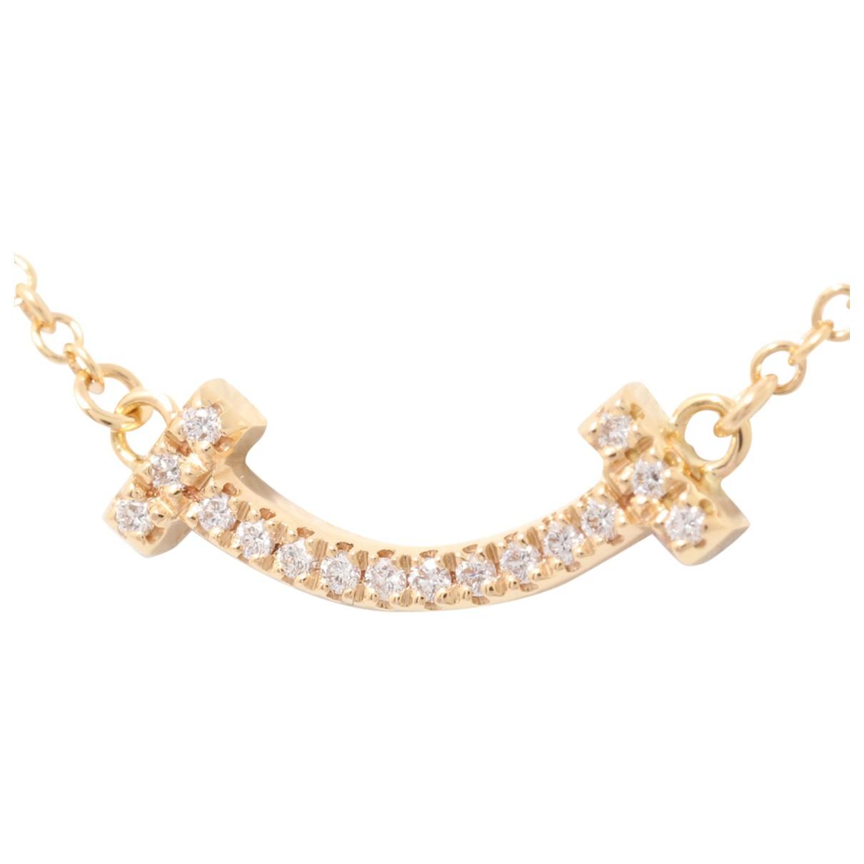 Tiffany & Co - Collier Tiffany T pour femme en or jaune - dore