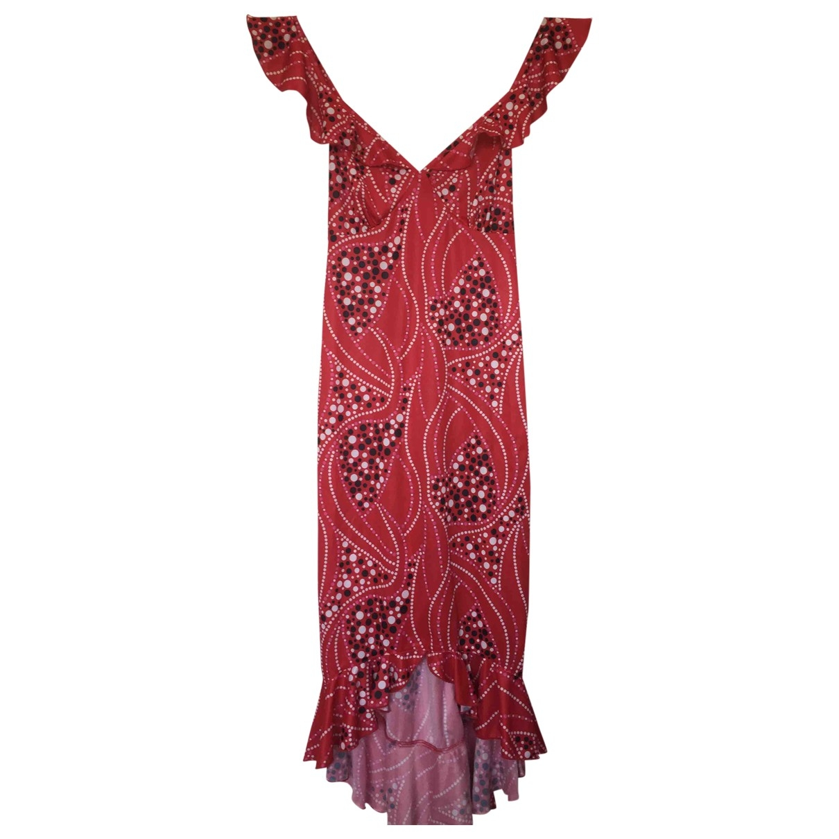 Non Signé / Unsigned Hippie Chic Red dress for Women M International