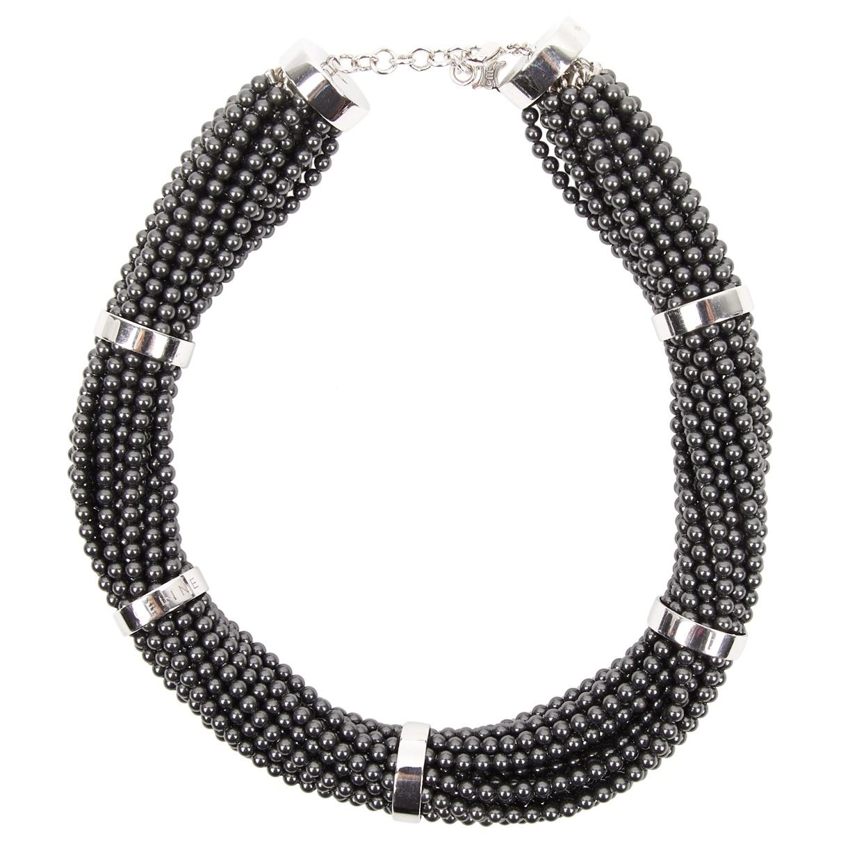 Celine \N Kette in  Silber Perlen