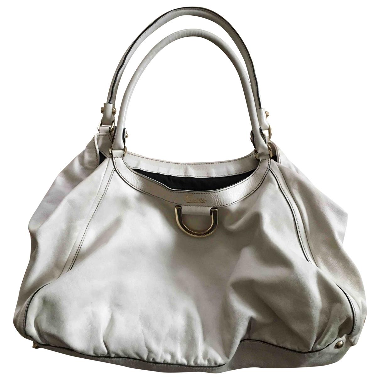 Gucci Sukey White Leather handbag for Women \N