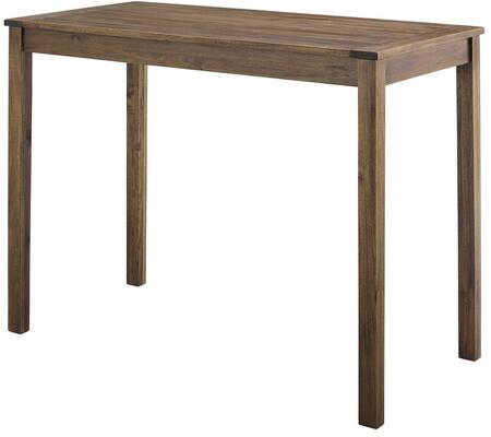 OWT48CNTDB Acacia Wood Counter Height Table in Dark