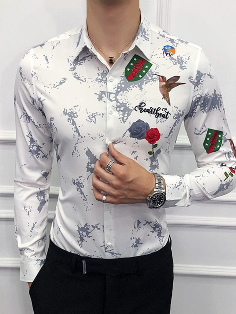 Ericdress Animal Casual Printed Single-Breasted Men's Shirt