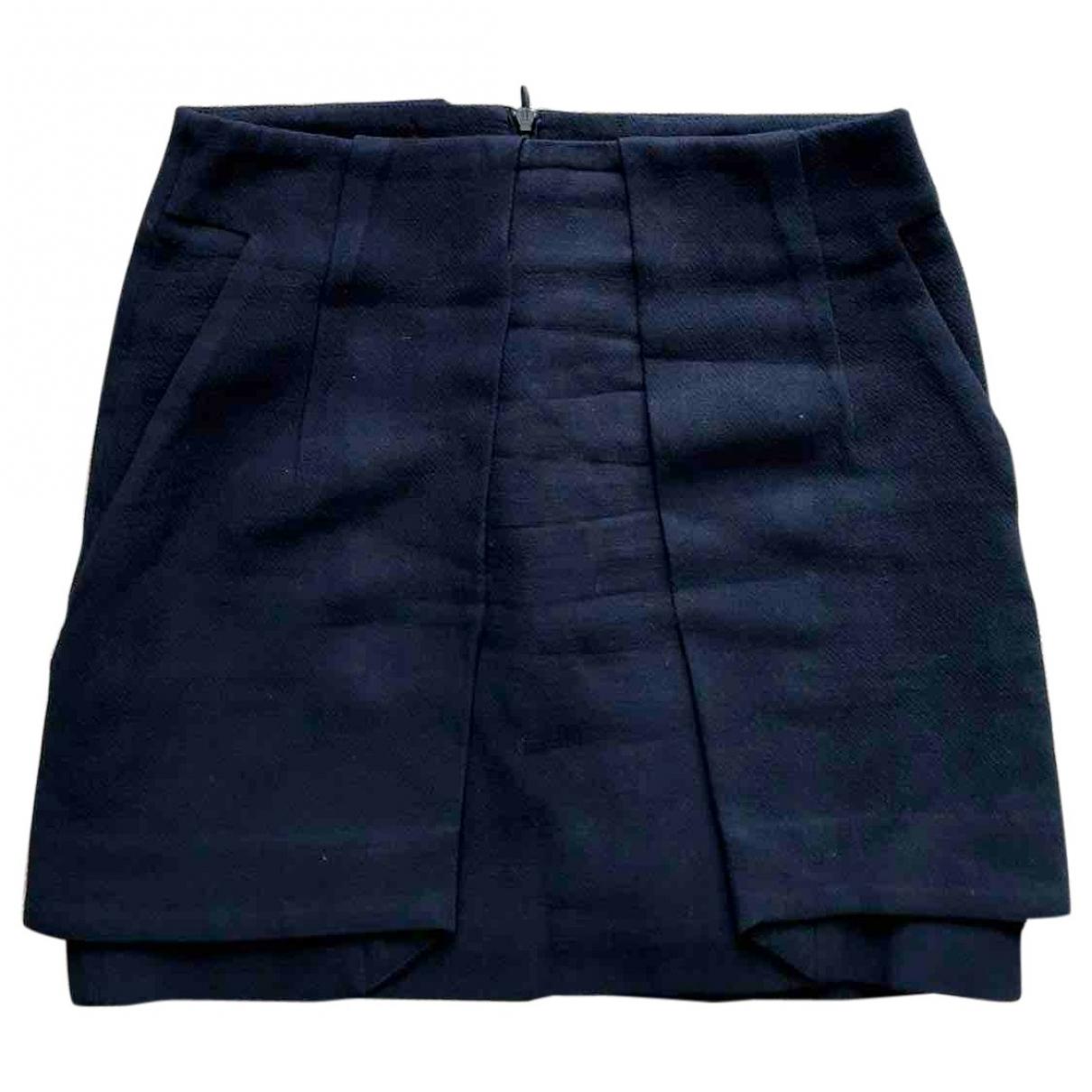 The Kooples - Jupe   pour femme en coton - bleu