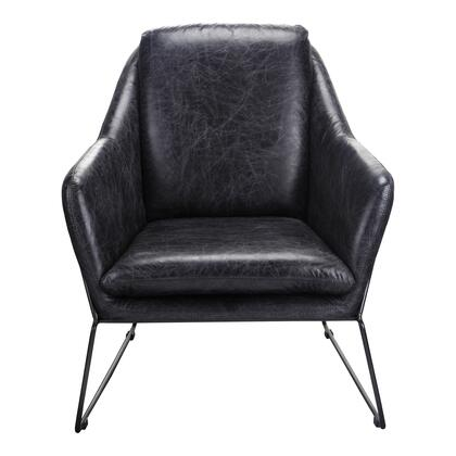 Greer Collection PK-1056-02 Club Chair with Iron Frame in Black