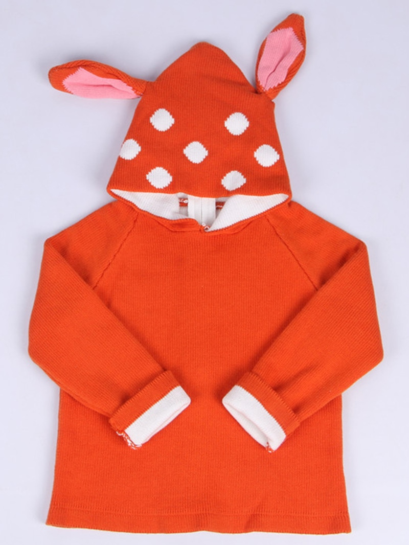 Ericdress Unisex Double-Layer Deer Ear Hoodie Back-Zipper Baby Sweater