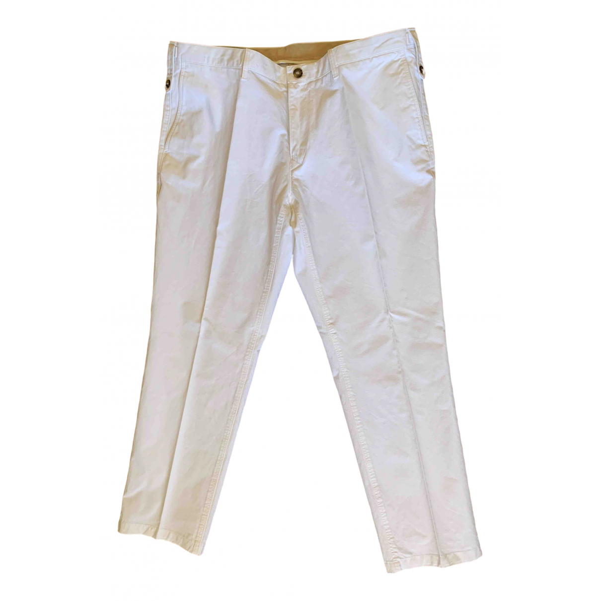 Burberry \N White Cotton Trousers for Men 40 FR