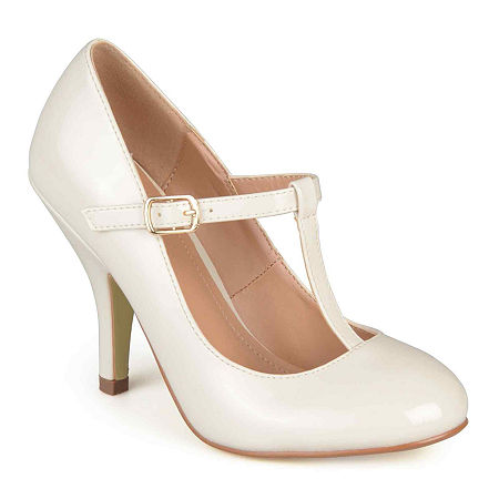 Journee Collection Lessah Pumps, 8 1/2 Medium, Beige