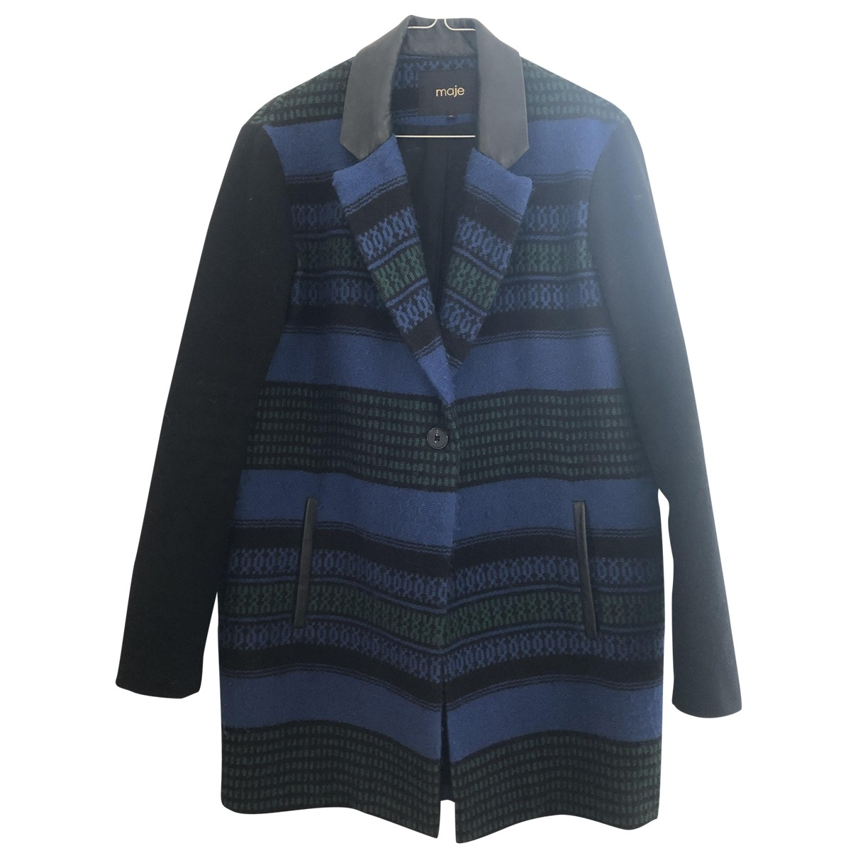 Maje \N Blue Wool jacket for Women 38 FR