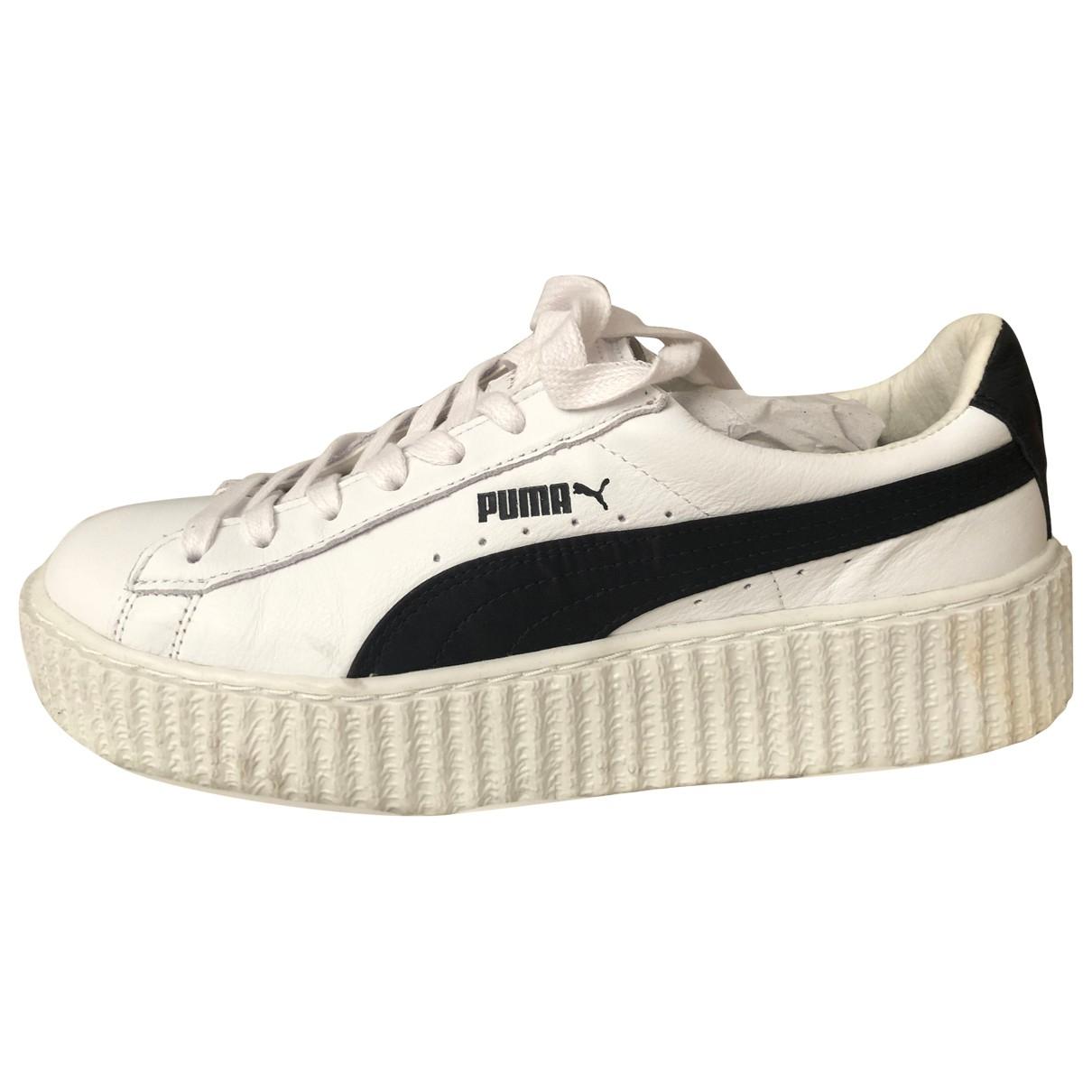 Fenty X Puma - Baskets   pour femme en cuir - blanc