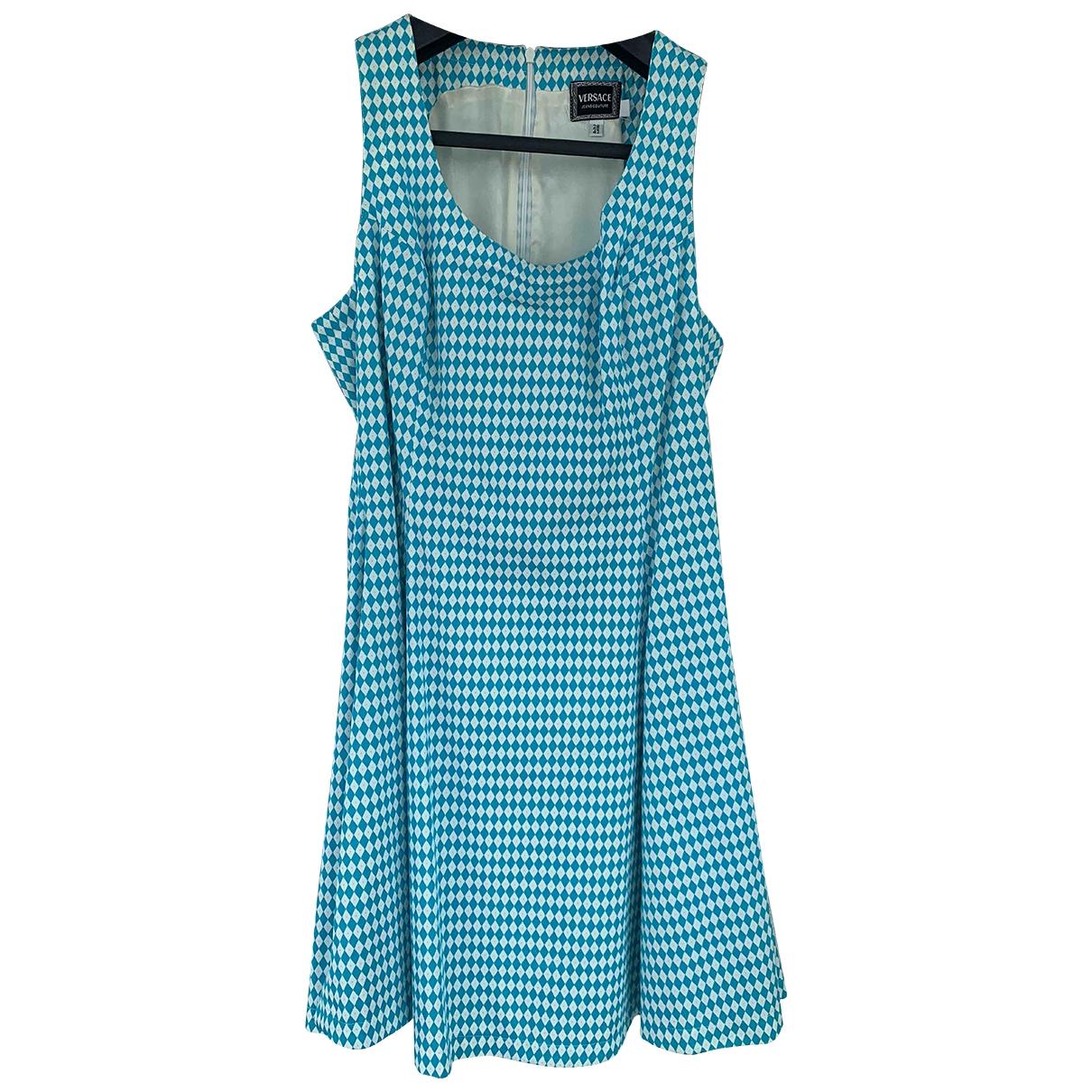 Versace Jeans \N Kleid in  Blau Baumwolle