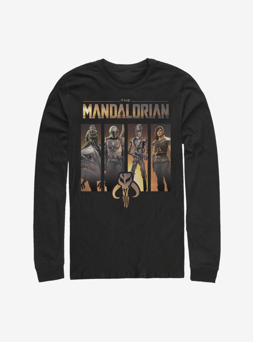 Star Wars The Mandalorian Character Panels Long-Sleeve T-Shirt