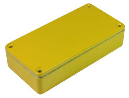 CAMDENBOSS 5000, Yellow Die Cast Aluminium Enclosure, IP54, Shielded, 101 x 50 x 25mm