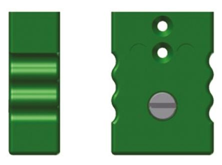 Reckmann Thermocouple Connector for use with Type K Thermocouple Type K, Standard, Green
