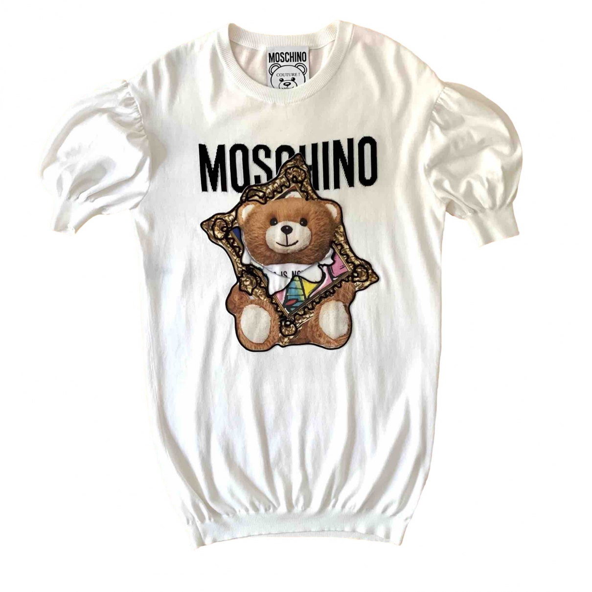 Moschino - Robe   pour femme en coton - blanc