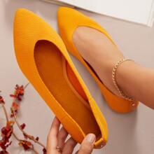 Zapatillas bailarina sin cordones tejidas