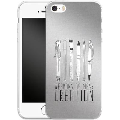 Apple iPhone SE Silikon Handyhuelle - Weapons Of Mass Creation von Bianca Green