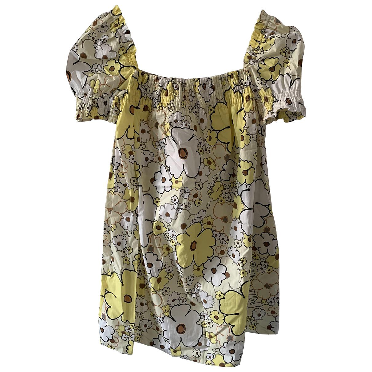 Miu Miu - Robe   pour femme en coton - jaune