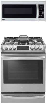 2-Piece Kitchen Appliances Package with LSG4513ST 30