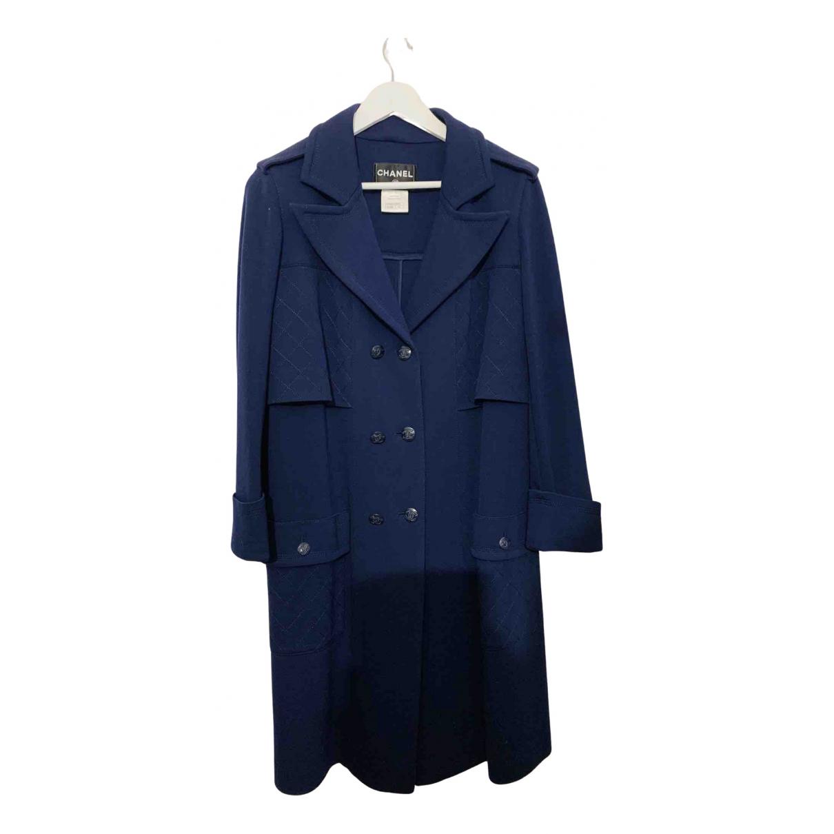 Chanel N Blue Wool coat for Women 40 FR