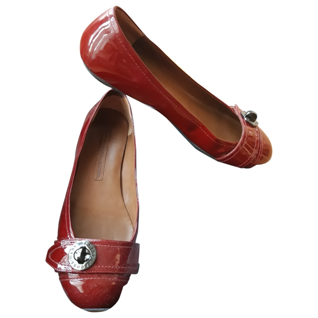 Marc By Marc Jacobs \N Red Patent leather Ballet flats for Women 37 EU