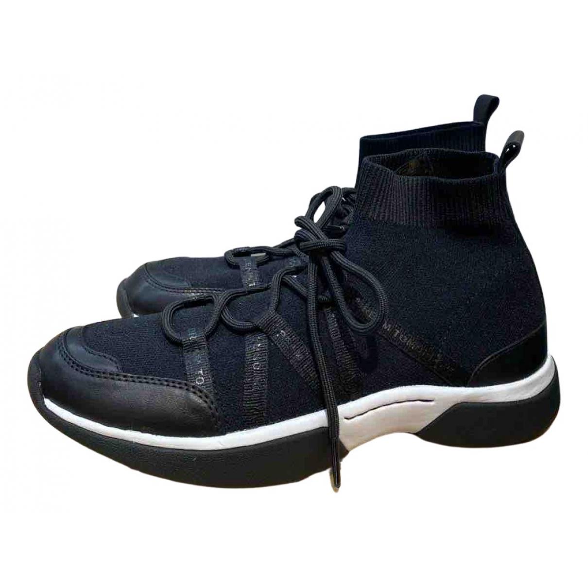 Maje \N Sneakers in  Schwarz Leinen