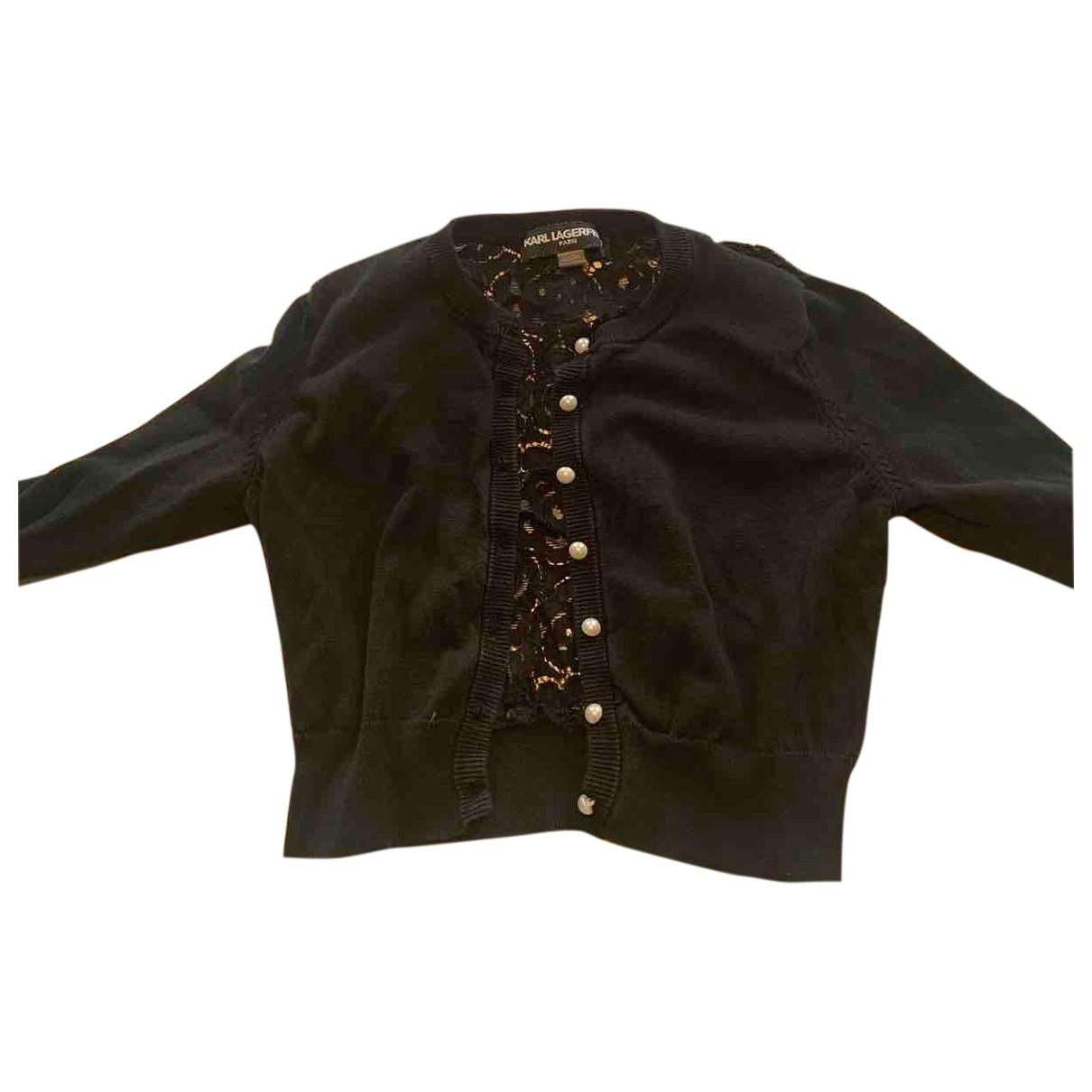 Karl Lagerfeld \N Black Cotton Knitwear for Women S International