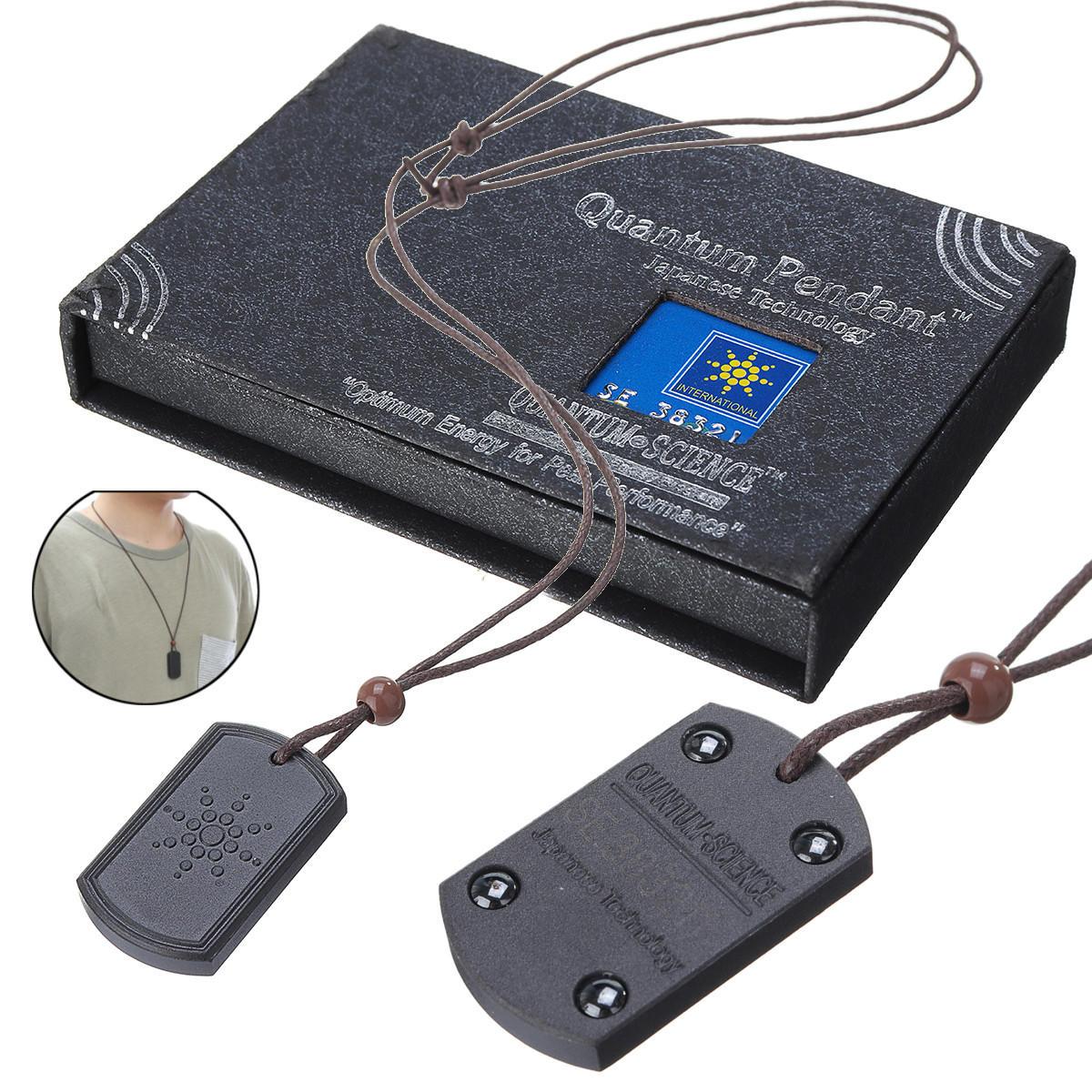 Necklace Quantum Pendant Chain Scalar Energy Negative Ion Protection Card Kit