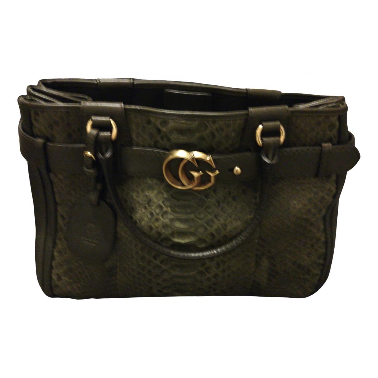 Gucci GG Running Grey Python handbag for Women \N