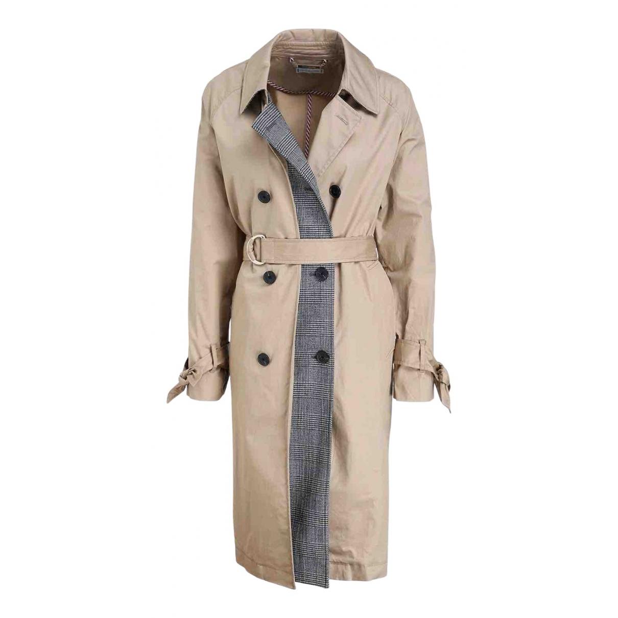 Tommy Hilfiger - Manteau   pour femme en coton - beige