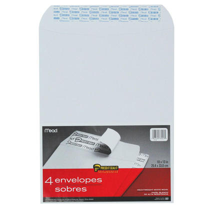 Mead Press-it Seal-it Self-adhesive Closure White Envelope - 10 x 13