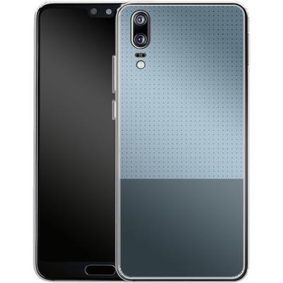 Huawei P20 Silikon Handyhuelle - Dot Grid Blue von caseable Designs