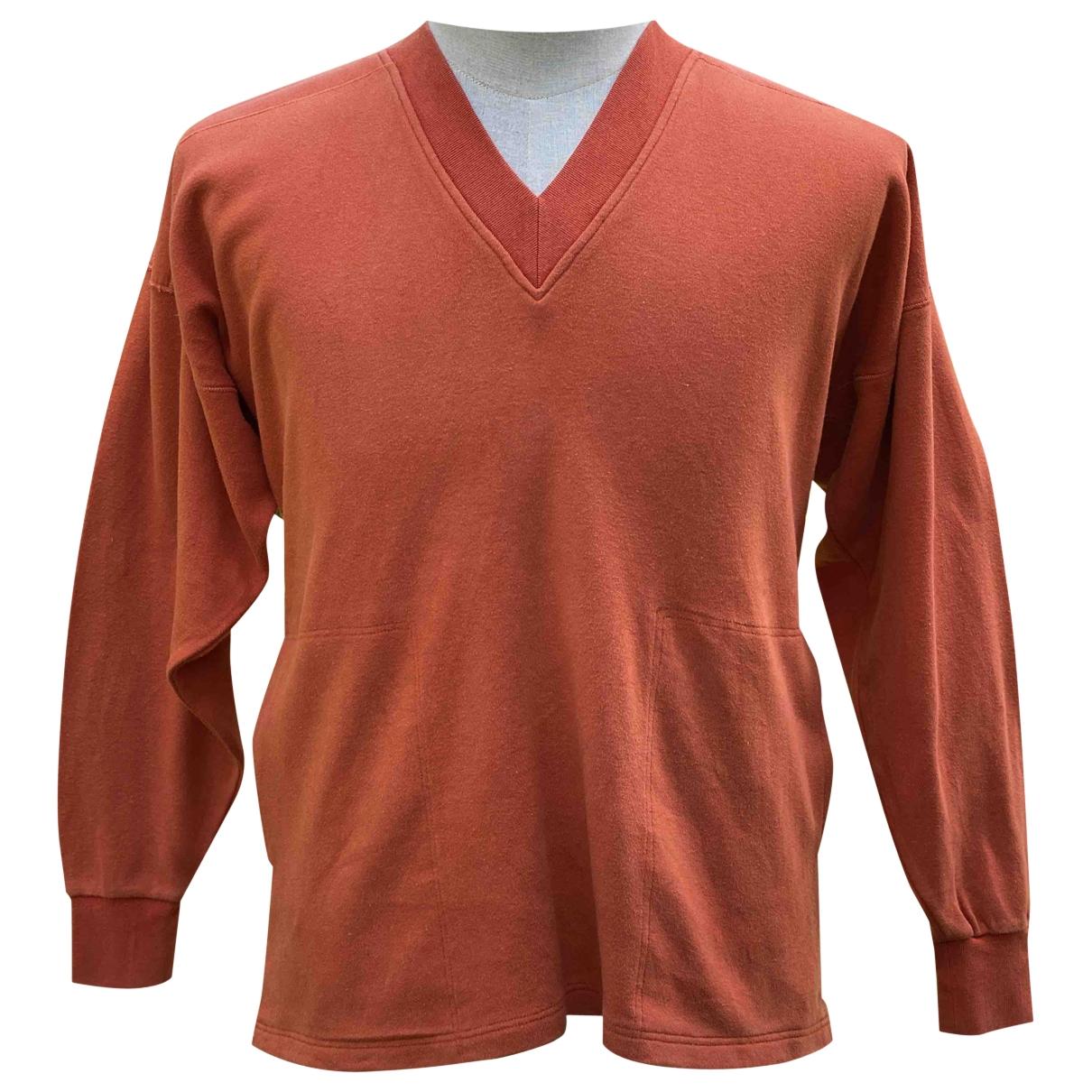 Issey Miyake - Pull   pour femme en coton - orange