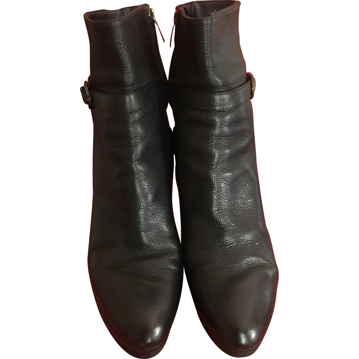 Sergio Rossi \N Black Leather Ankle boots for Women 41 EU