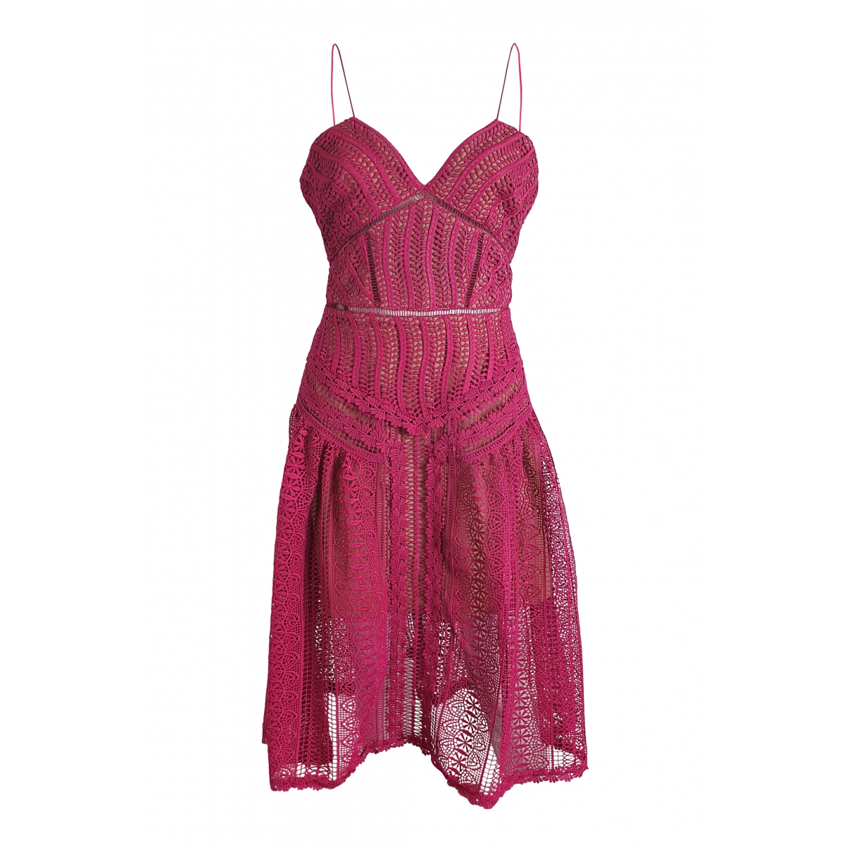 Self Portrait \N Pink Cotton dress for Women 10 UK