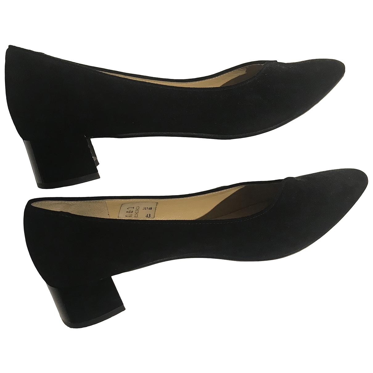 - Escarpins   pour femme en suede - noir