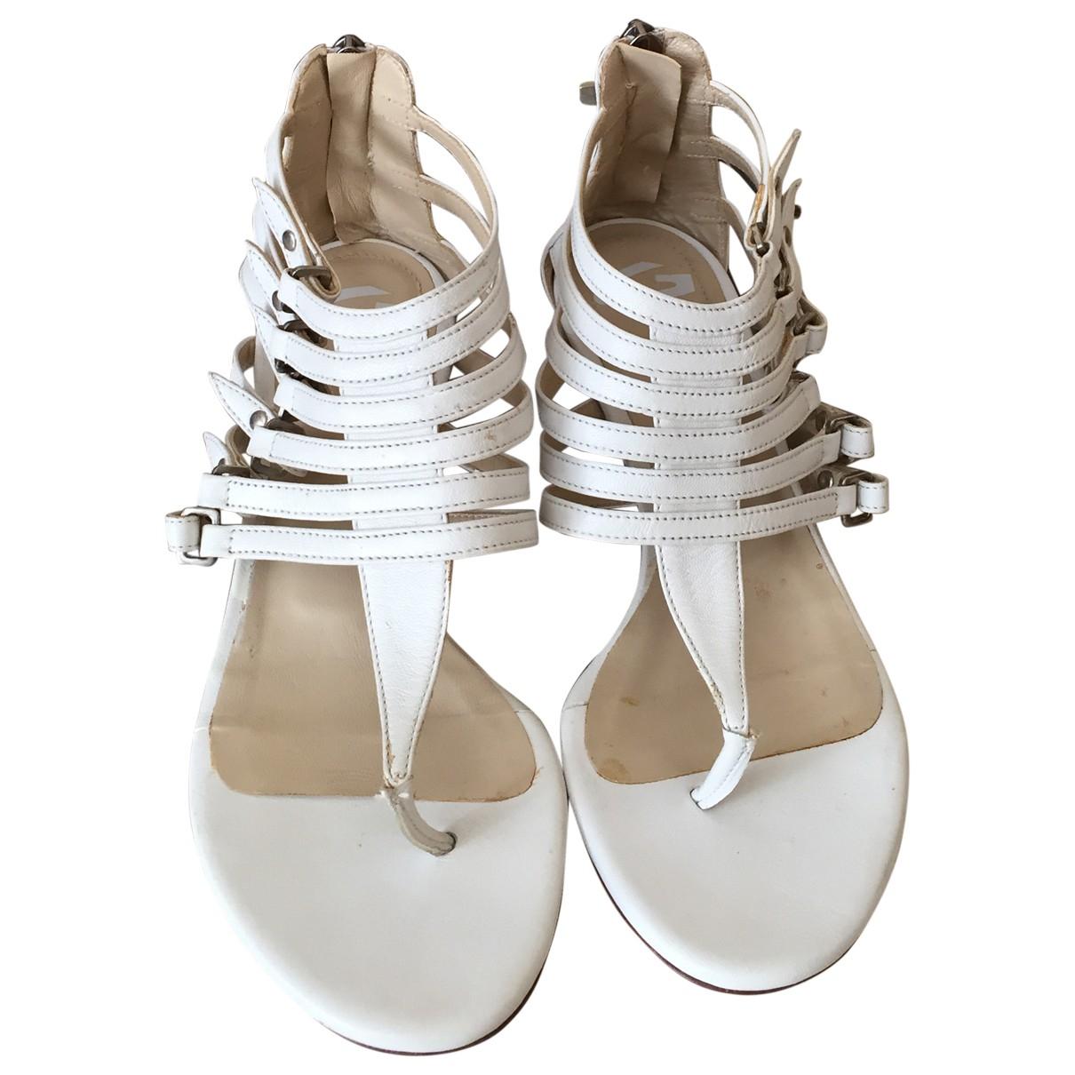 Alberto Guardiani - Sandales   pour femme en cuir - blanc