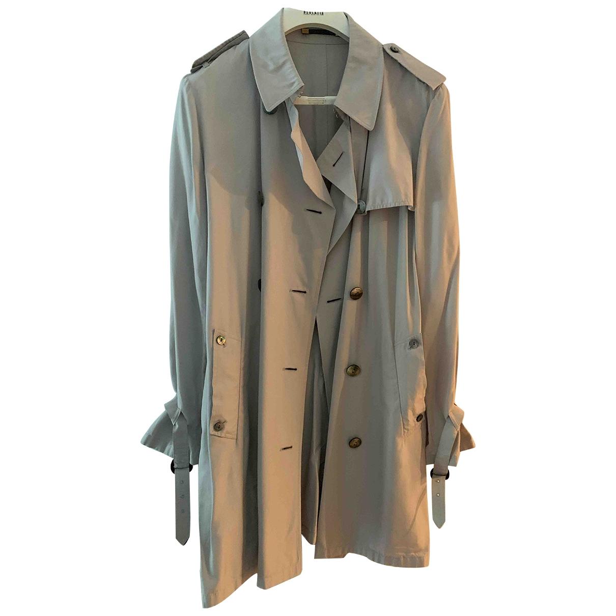 Aquascutum - Manteau   pour femme en soie - gris