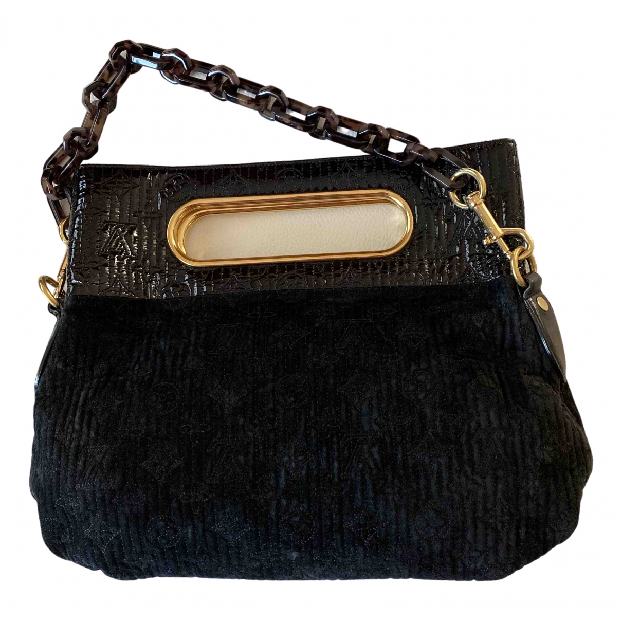 Louis Vuitton N Black Suede Clutch bag for Women N
