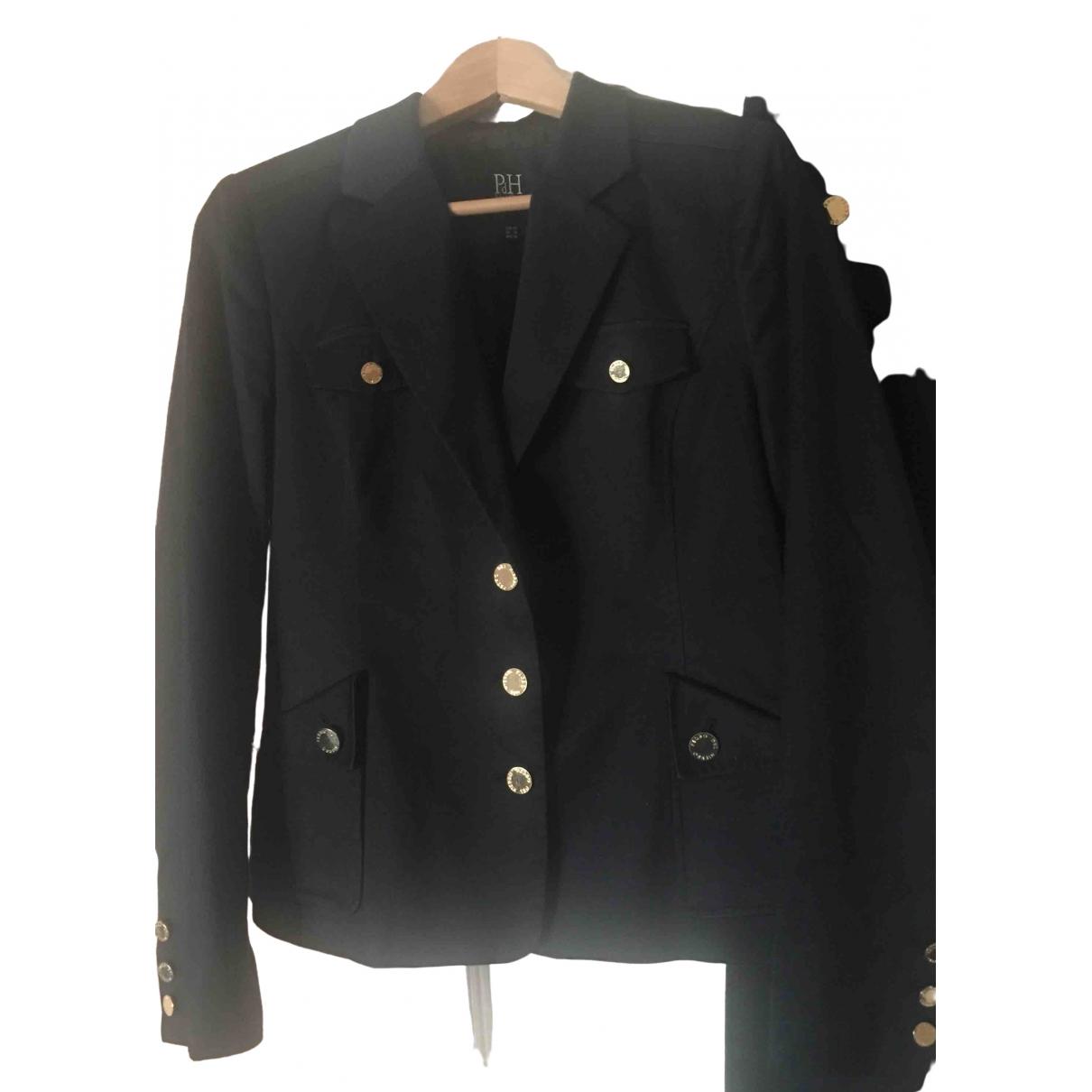 Pedro Del Hierro - Veste   pour femme en coton - noir