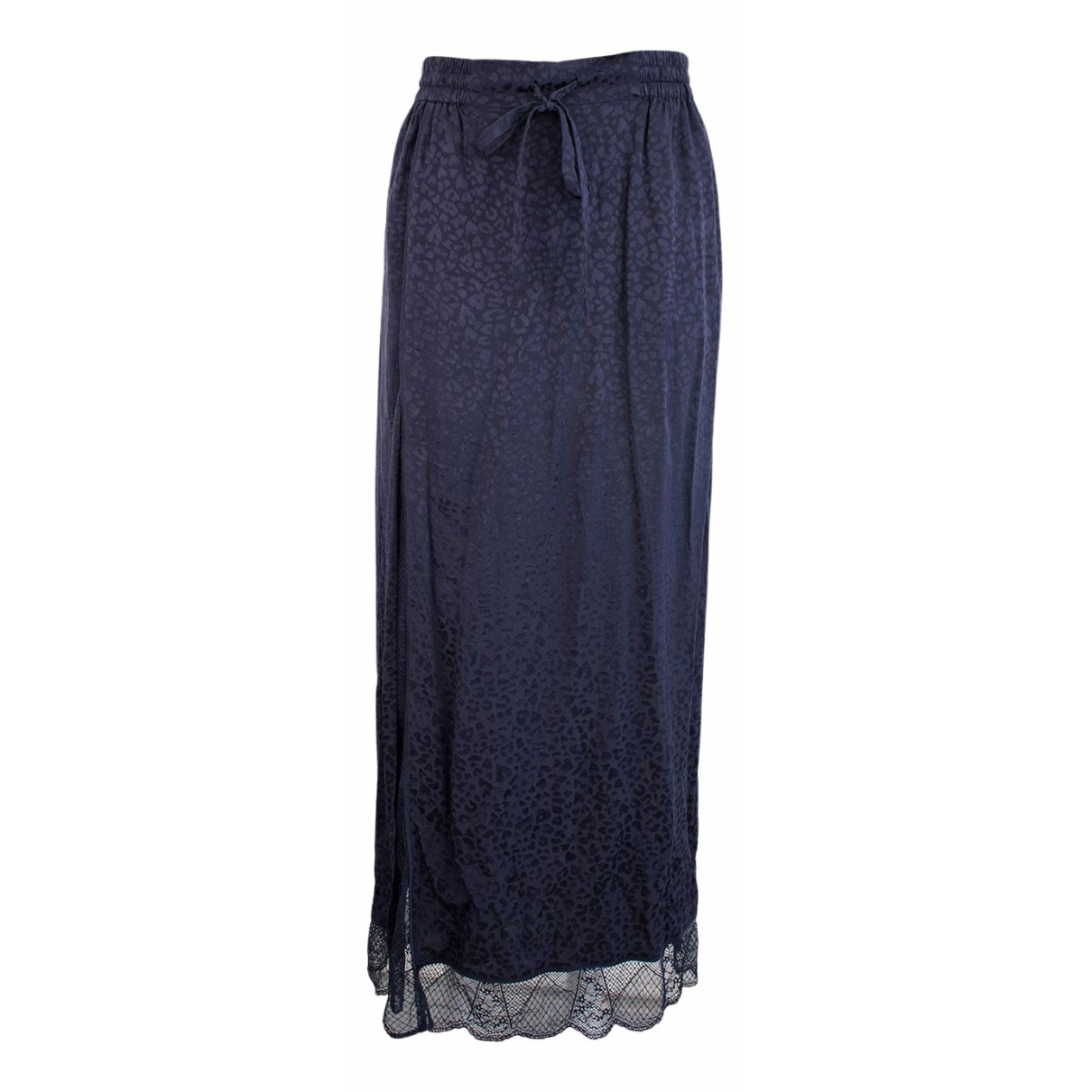 Zadig & Voltaire N Navy Silk skirt for Women 38 FR