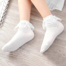 Calcetines de niñitas ribete con encaje