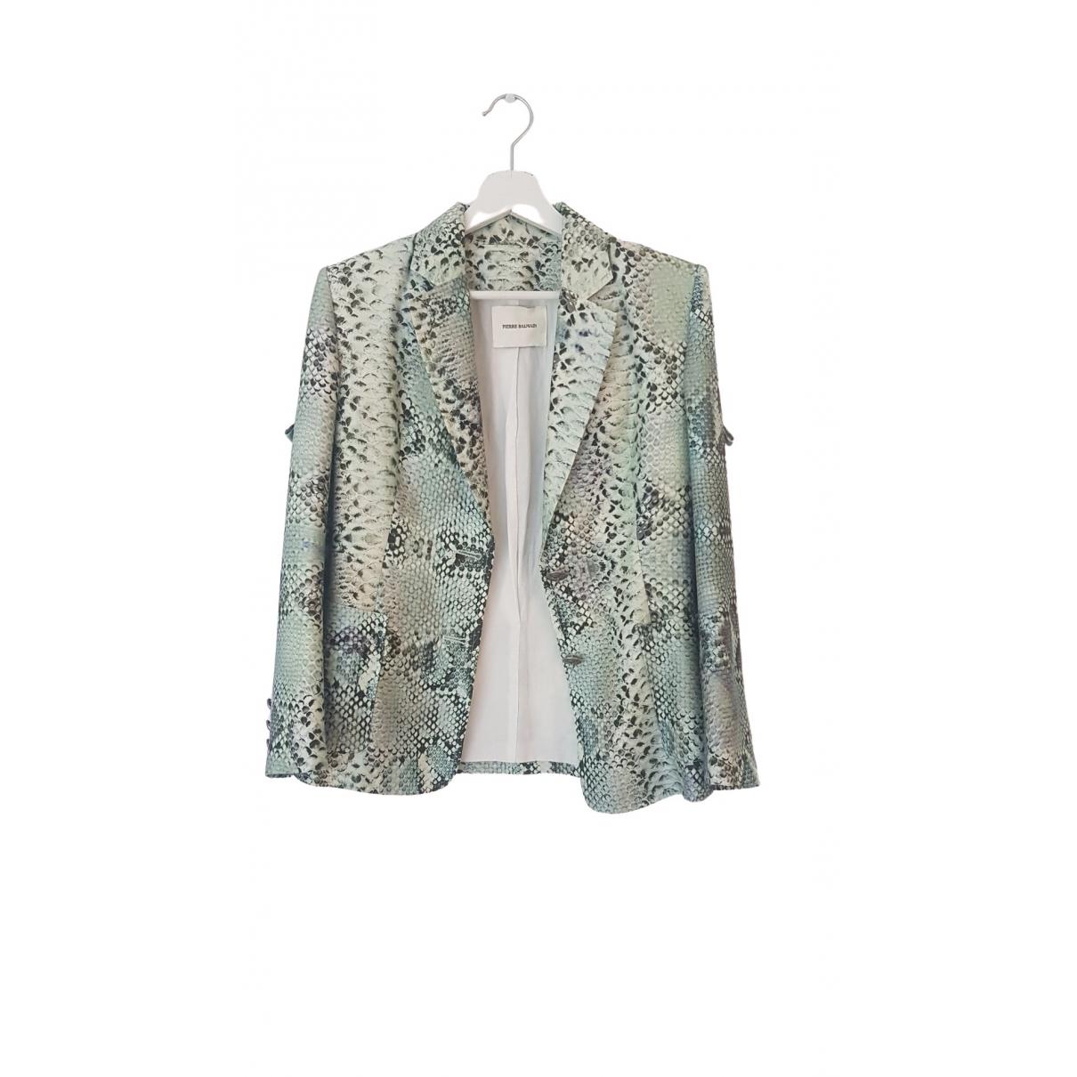 Balmain \N Green Silk jacket for Women 36 FR