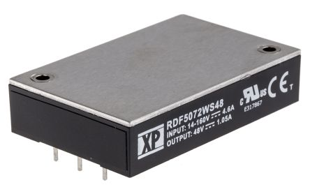 XP Power QSC150 150W Isolated DC-DC Converter PCB Mount, Voltage in 9 → 36 V dc, Voltage out 28V dc
