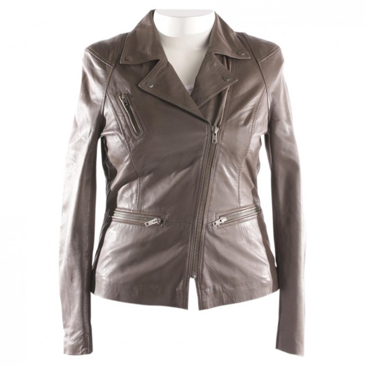 Muubaa \N Grey Leather jacket for Women 14 UK
