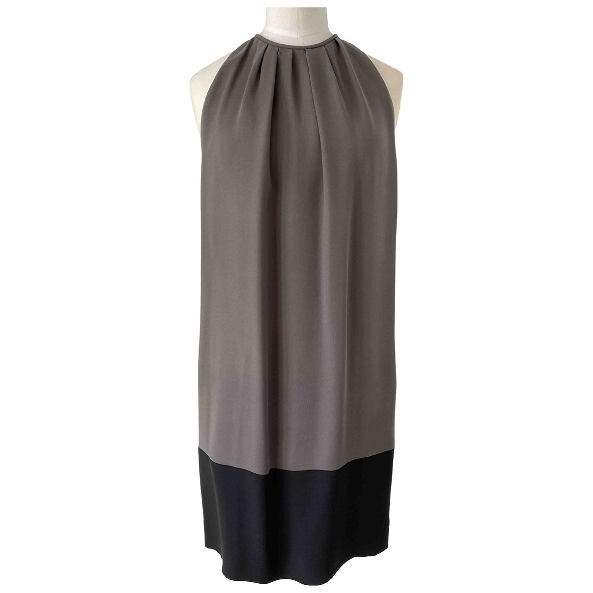 Celine \N Grey Silk dress for Women 40 FR