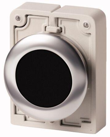 Eaton Flush Black Push Button - Momentary, M30 Series, 30mm Cutout, Round