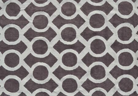 PA0078D 5 x 7 ft. Medal Area Rug  in Taupe and