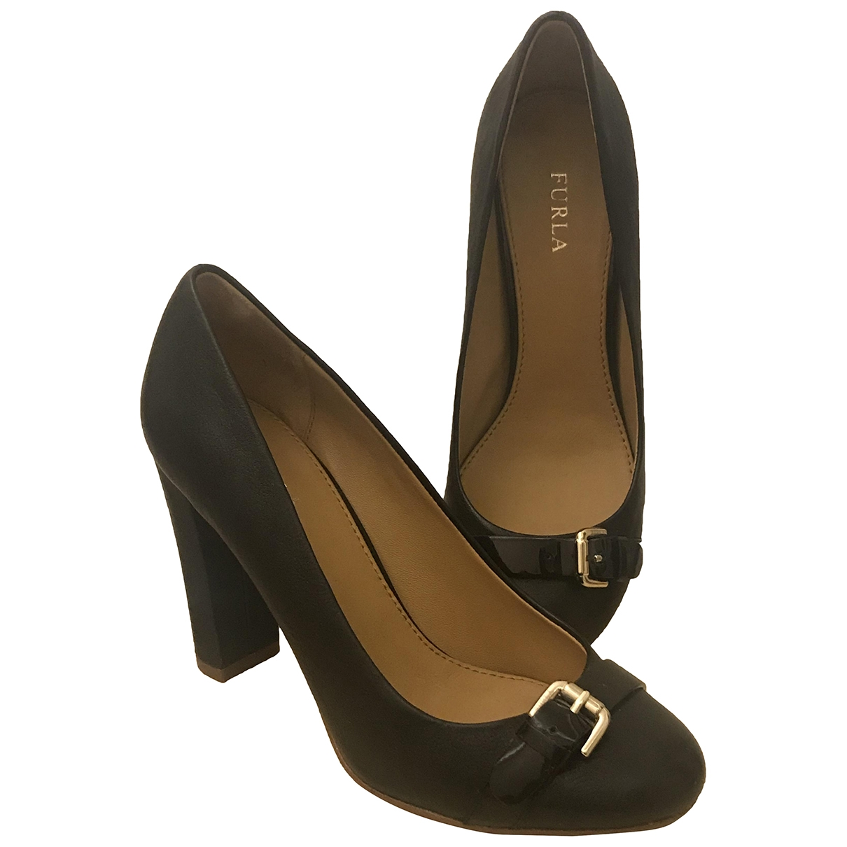 Furla \N Black Leather Heels for Women 36 EU