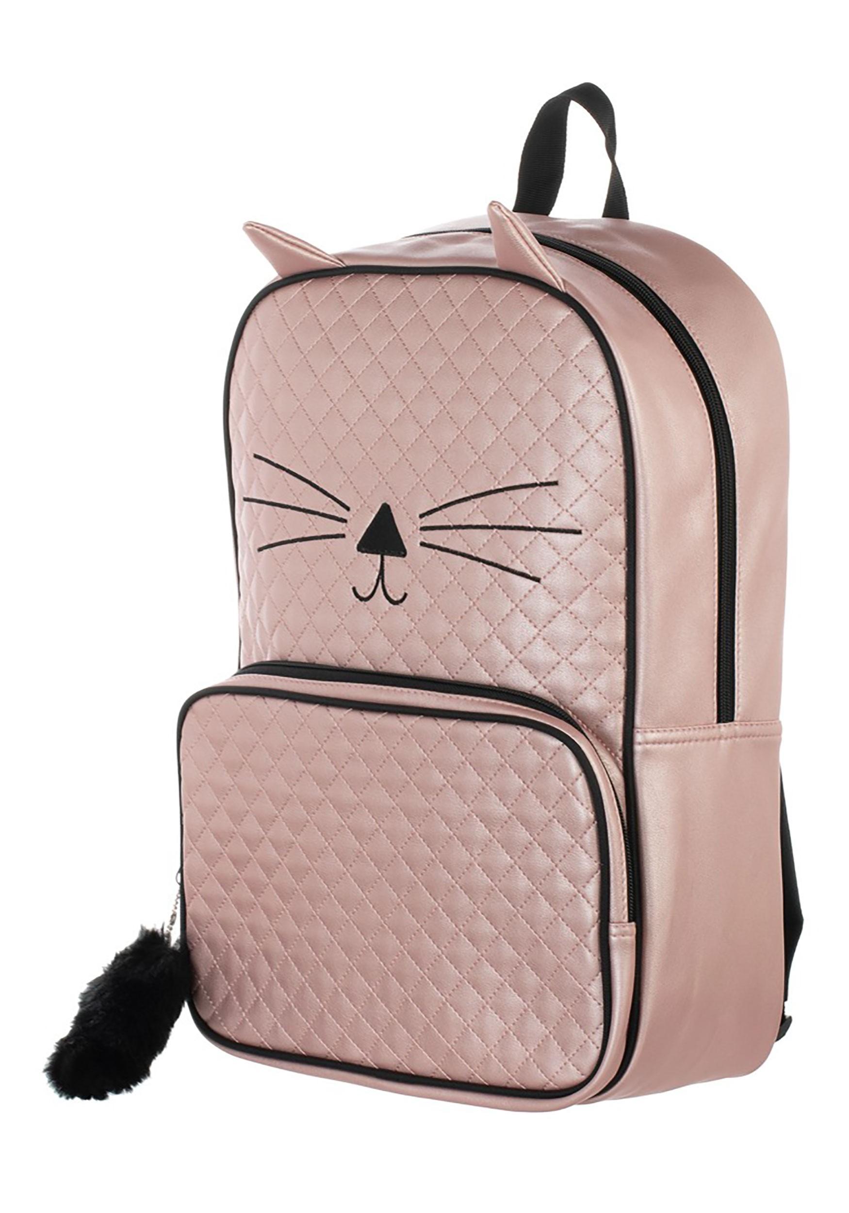 Girl's Quilted Kitten Backpack